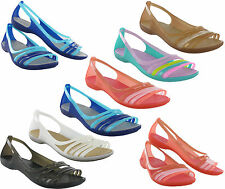 Womens Crocs Isabella Huarache Flexible Summer Flat Comfort Light Sandals UK 4-9