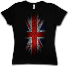 GIRLIE Shirt VINTAGE UK UNION JACK Flag - England GB Britain FLAG XS-XXL Shirt