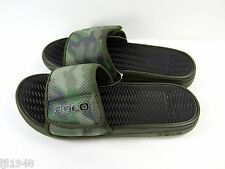 Polo Ralph Lauren Slide Sandal Sandals Camo Olive Green Camouflage 10 11 NWT