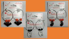 Claire's Boutique Halloween Hoop Enamel Charm Earrings Sensitive Solutions NEW