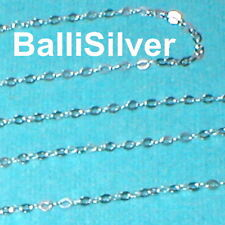 WHOLESALE LOTS 1.5x2mm Fine FLAT CABLE Sterling Silver 925 Bulk Continuous CHAIN