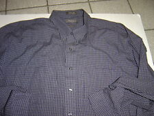 NEW MENS VAN HEUSEN NAVY WRINKLE FREE L/S SHIRT SIZE XXL  18-18 1/2