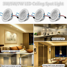 4X 3W 5W 7W LED Recessed Ceiling Lights Downlight Spot Lamp Aluminum Warm White