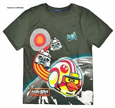 Boys 'STAR WARS ANGRY BIRDS' Soft Touch T'Shirt   Ages 8/9 10/11 12/13 14/15 yrs