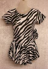 ZEBRA PRINT SKIRTED LEOTARD  - GYMNASTICS DANCE MAJORETTES SKATING