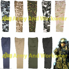 6 Pocket Camo Combat Cargo Work Trousers Mens Work Wear Pants Military Army Ops