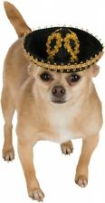 Black and Gold Pet Sombrero Dog costume Accessory fnt