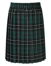 Girls SkyeTartan Pull-on Knife Pleat skirt-Full Elasticated Waist-QUALITY SKIRT