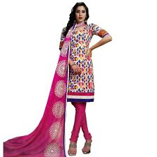Ready To Wear Cotton Printed Salwar Kameez with Embroidery Dupatta India-Sada-07