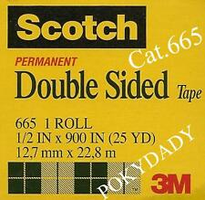 5 pcs 3M Scotch double sided tape 665 1/2x900 in 25yd