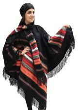 Alpaca Wool Poncho Cape with matching Scarf & Beret One Size
