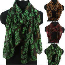 Women Fashion Scarf Sexy Ladies&Letters Print Soft Long Scarf/Infinity Scarf New