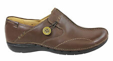 CLARKS UN LOOP WOMENS/LADIES COMFORTABLE LEATHER SLIP ON CASUAL SHOES/FLATS