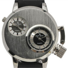 Fashion V6 Quartz Men Wristwatches Gusseisen Case Dual Quartz Movements Watches