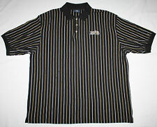 NWOT University of South Florida USF Bulls Black Polo White & Gold Pinstripes 2X