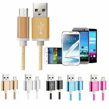 1.5M Metal Braided Micro USB Fast Charger Data Cable For Samsung Galaxy S3 S4 S6