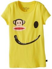 Paul Frank Girls Smiley Face Tee Shirt Yellow Baby Toddler T-shirt New