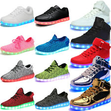 7 LED Light Lace Up Luminous Shoes Unisex High Top Glow shoes Casual Sneakers