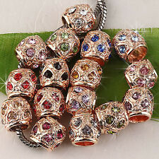 20pc Crystal Charm Bead Fit European Bracelet AC143