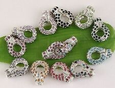 20pc SP Crystal Magnetic Lobster Clasps 21x16mm BB315
