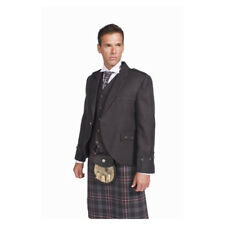 Scottish Made Tweed Argyle Kilt Jacket with 5 Button Vest Made in the UK BNWT