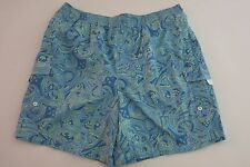 Tori Richard Hawaii -XL- Men's Mesh Lined Board Shorts Swim Trunks Riptide Blue