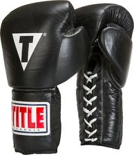 Title Boxing Leather Lace Training Gloves