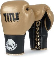 Title Boxeo Pro Fight Gloves - Gold / Black