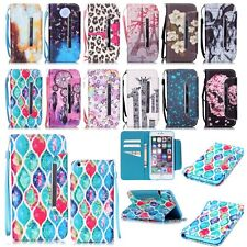 Flip Magnetic Leather Card Wallet Stand Case W/Strap Cover For iPhone 6 6S Plus