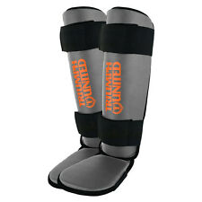 Triumph United Youth MMA Shin Guards - Grey/Orange