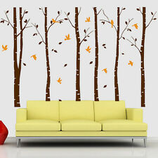 Large Forest Trees Birds Home Art Vinyl Living Room Wall Decor Decal Stickers