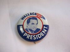 Wallace For President Vintage Political Campaign Democratic Party Button  T*