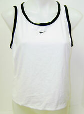 New Womens Nike Fit Dry Zoned Venting Tennis Tank Top White/Black 242095-102