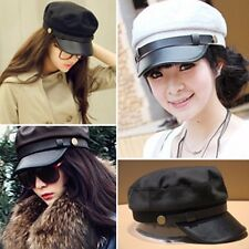 Unisex Mens Womens Short Visor Plain Pattern Cadet Military Cap Trucker Hats Hot