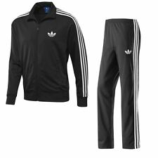 ADIDAS ORIGINALS FIREBIRD MENS FULL TRACKSUIT BLACK SIZES S M L XL GYM RETRO NEW