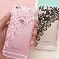 Ultra Thin Lace Silicone Rubber Case Cover Skin for Apple iPhone 6&6s 4.7''/Plus