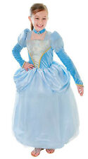 GIRLS CINDERELLA PRINCESS COSTUME FAIRY TALE FANCY DRESS OUTFIT NEW  4-6-8-10