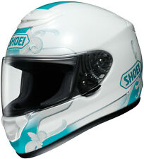Shoei Qwest Full-Face Motorcycle Helmet -  SERENITY TC-10 (White/Teal) XS-2XL