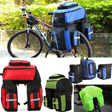 Waterproof Bicycle Panniers Mountain bike Cycling Bags Seat Triple Pannier Set