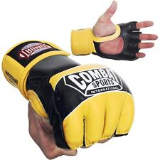 Combat Sports Pro Style MMA Training Competition Gloves - Neon Yellow