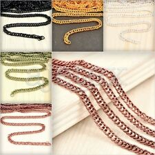 13.12 feet 4m/pcs Curb Chain Unfinished Chains Necklace Pendant 2.8x1.4x0.5mm