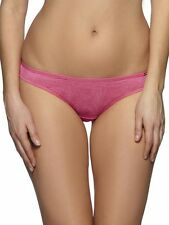 NEW GOSSARD PINK ANIMAL SHEER GLOSSIES BRAZILIAN THONG/BRIEF 5183