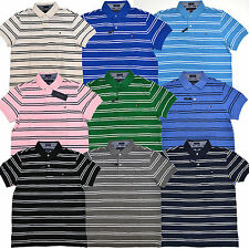 Tommy Hilfiger Polo Shirt Mens Striped Custom Fit Short Sleeve Collared Knit
