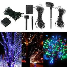 12M Solar Power 100-LEDs Fairy String Light Lamp Xmas Party Wedding Garden Decor