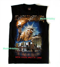 IRON MAIDEN Sleeveless T-Shirt Black Sz S M L XL SOMEWHERE BACK IN TIME HM SURF