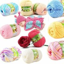 Super Soft Knitting Cashmere Silk Protein Cotton Smooth Kid Baby Yarn Ball 50g