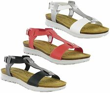 Inblu Leather Insock Open Toe Comfort Buckle Summer Womens Sandals Shoes UK 3-8