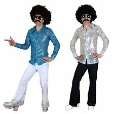 Mens Disco Flares 70s Fancy Dress Costume Flare Trousers Saturday Night Fever