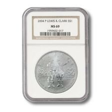 USA Modern Commemorative Silver Dollar- Lewis & Clark $1 2004P NGC MS-69