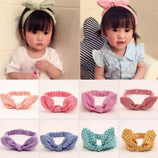 Infant Baby Girls Kids Toddler Dot Turban Knot Rabbit Hairband Headband Headwrap